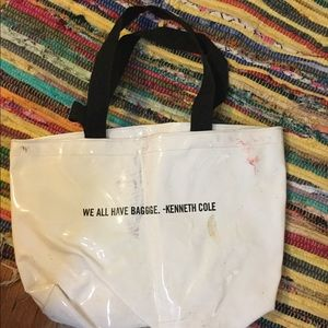 Kenneth Cole Bags - Kenneth Cole tote bag shiny white